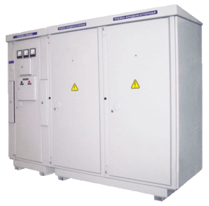 High-voltage capacitor banks with automatic power control