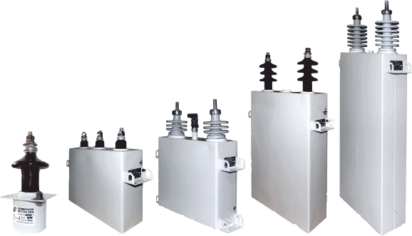 Special high-voltage and impulse capacitors, power filters of higher harmonics